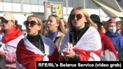 Эътирози занон дар Минск, пойтахти Беларус