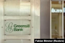 A német Greensill Bank logója 2021. március 10-én