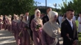 Bosnia - mass Islamic wedding in Sarajevo - screen grab