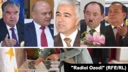 На сегодняшний день для участия в выборах выдвинуто пять кандидатов, в том числе действующий президент Эмомали Рахмон