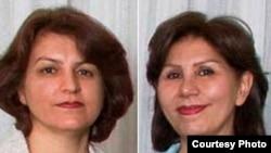 فریبا کمال آبادی (چپ) و مهوش ثابت، از رهبران بهایی دستگیر شده در ایران