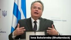 Министерот за надворешни работи на Грција Никос Коѕијас