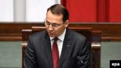 Радослав Сикорский после избрания председателем сейма Республики Польша