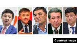 Темир Сариев, Акматбек Келдибеков, Камчыбек Ташиев, Адахан Мадумаров жана Бакыт Төрөбаев.