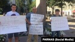 Пикет в поддержку Андрея Пивоварова, по делу которого осудили Никонорова