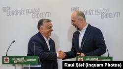 Orbán Viktor magyar miniszterelnök és Kelemen Hunor, az RMDSZ elnöke