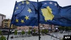 Zastave EU i Kosova, ilustrativna fotografija
