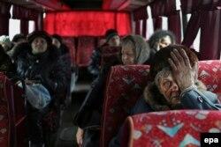 Эвакуацыя жыхароў Дэбальцава, люты 2015-га