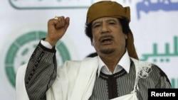 Кіраўнік Лібіі Муамар Кадафі