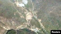 Түндүк Кореянын Пунгери өзөктүк сыноо полигонунун спутниктен тартылган сүрөтү. 14-май, 2018-жыл.