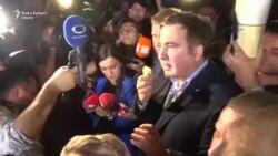 Simpatizanții lui Mihail Saakașvili au forțat intrarea lui în Ucraina