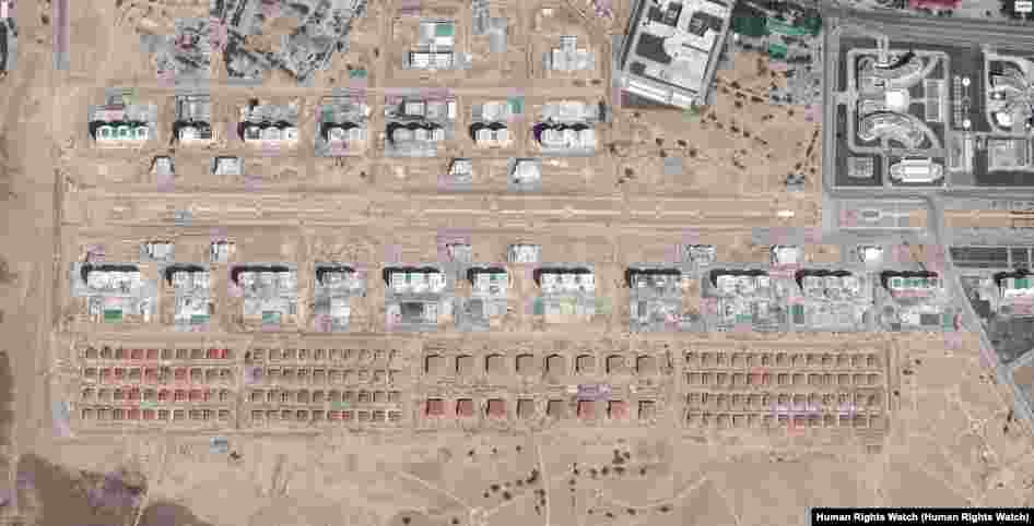 Turkmenistan - Demolished neighborhoods in Ashgabat (Satellite view)-After