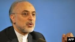İranın xarici işlər naziri Ali Akbar Salehi Ermənistanda mətbuat konfransı zamanı