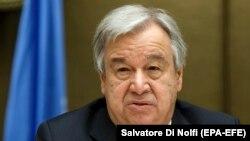 BMG-niň baş sekretary Antonio Guterres