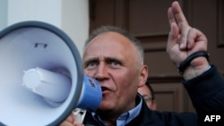 Belarusian opposition leader and former presidential candidate Mikalay Statkevich had only been released from prison last month.