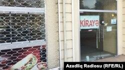 Ադրբեջան - Մանաթի կտրուկ արժեզրկման հետևանքով փակված խանութներ Բաքվում, 22-ը դեկտեմբերի, 2015թ․