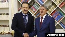 Алмазбек Атамбаев и Карим Масимов.