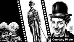 Илустрација на Игор Јовчевски: Чарли Чаплин