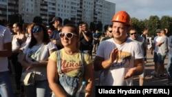 Мітынг пратэсту ў Салігорску, 17 жніўня 2020 году.