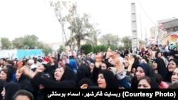 The protest in Borazjan in southern Iran, July 7, 2018.