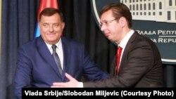 Aleksandar Vučić (D) i Milorad Dodik