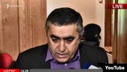 Глава фракции АРФД Армен Рустамян, Ереван, 30 апреля 2018 г.