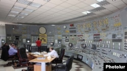 The central control room of the Soviet-era Metsamor nuclear plant near Yerevan in Armenia.
