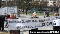 Protest radnika Kosmosa 3. aprila