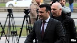 """Премиерот Зоран Заев пред Основен суд Скопје 1, на судење за случајот """"Поткуп"""" во март, годинава"""