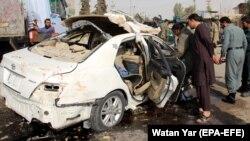 یکی از انفجارها با خودرو علیه نیروهای دولتی در افغانستان