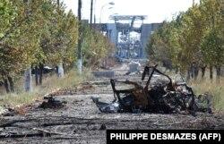 Руїни Міжнародного аеропорту «Луганськ», 11 вересня 2014 року