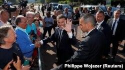 Президент Франции Эммануэль Макрон после голосования во втором туре парламентских выборов, 18 июня 2017 года.