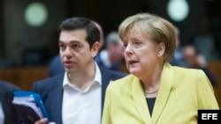 Alexis Tsipras i Angela Merkel