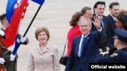 George W. Bush prvog dana posjeta Hrvatskoj 4.04.2008.
