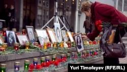 На траурном митинге в 9-ю годовщину трагедии Норд-Оста, 26 октября 2011