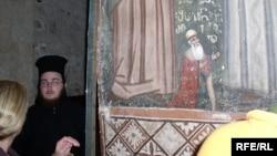 В иерусалимском Крестовом монастыре находится единственное изображение великого грузинского поэта Шота Руставели