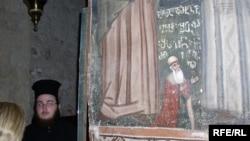 შოთა რუსთაველის ფრესკა იერუსალიმის ჯვრის მონასტერში