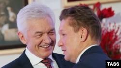 Друзі Путіна: власник приватної інвестиційної групи Volga Group Геннадій Тимченко (ліворуч), голова «Газпрому» Олексій Міллер (праворуч)