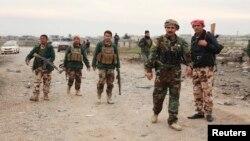 Участвовавшие в операции в районе Синджара члены курдских формирований