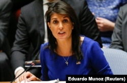 Nikki Haley at the UN on April 14.