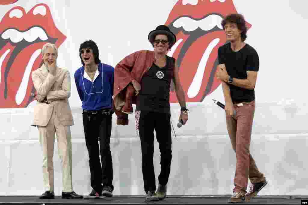 Rolling Stones объявляют о мировом туре 2005 года, Нью-Йорк