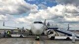 "Kyrgyzstan, plane, On May 3, Manas International Airport met a charter flight Dubai-Bishkek airline ""Fly Dubai""."