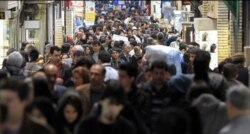 Сцена из повседневной жизни главного базара в Тегеране.