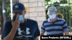 Црна Гора - Луѓе носат маски, во Подгорица