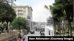 Bakı 20 və 21-ci əsrdə: Eyni məkanların bir əsr əvvəl və indiki fotoları