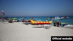 Seaside beach on Kish Island