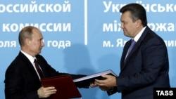 Президенты Путин и Янукович
