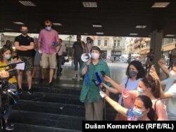 Rektorka Univerziteta u Beogradu Ivanka Popović, podržala je studente