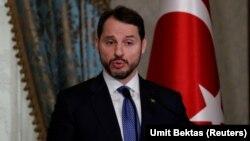 Թուրքիայի ֆինանսների նախարար Բերաթ Ալբայրաքը, արխիվ, Ստամբուլ, 28 փետրվարի, 2019թ.
