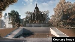 Эскиз памятника адыгской матери